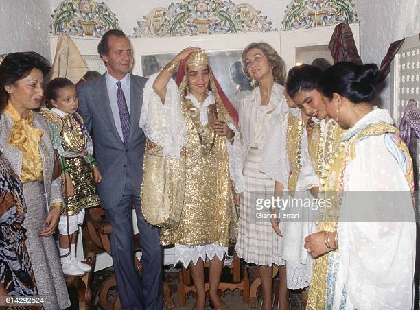 In their official trip in Tunisia the Spanish Kings Juan Carlos of Borbon and Sofia of Greece visit the city of HammanetTunisia