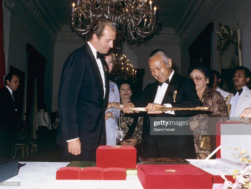 Spanish Royals In Indonesia. : News Photo