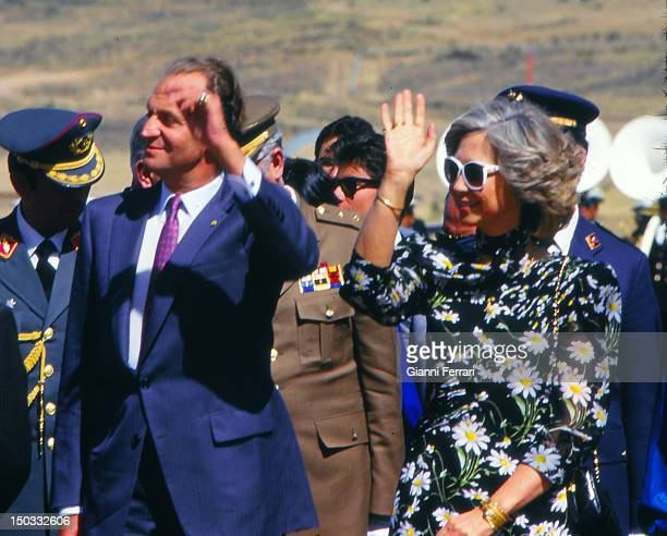 In their official visit to Bolivia arrival of the Spanish Kings to Sucre 23rd May 1987 Bolivia