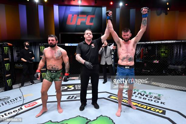 In their welterweight bout during the UFC 255 event at UFC APEX on November 21, 2020 in Las Vegas, Nevada.