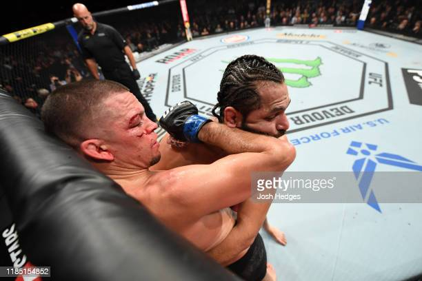 in their welterweight bout for the BMF title during the UFC 244 event at Madison Square Garden on November 02 2019 in New York City
