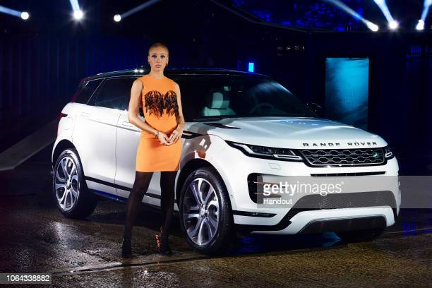 In these handout images provided by Jaguar Land Rover Host activist and model Adwoa Aboah poses as Land Rover celebrates all things London as it...