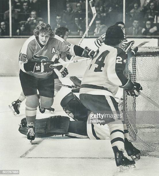 In thick of action Philadelphia Flyers' Bobby Clarke may have an angel face but he's No 1 tough guy in NHL according to panel of legendary touchies...