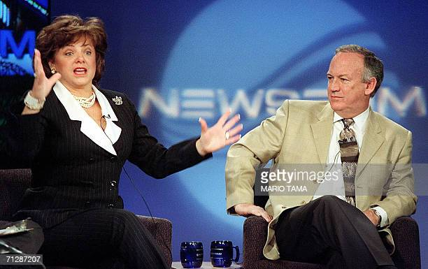 In this 12 October file photo John and Patsy Ramsey whose daughter JonBenet was found murdered in their home nearly four years ago answer questions...