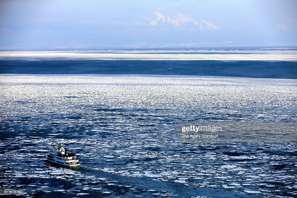 Drift Ice Arrives Abashiri : News Photo