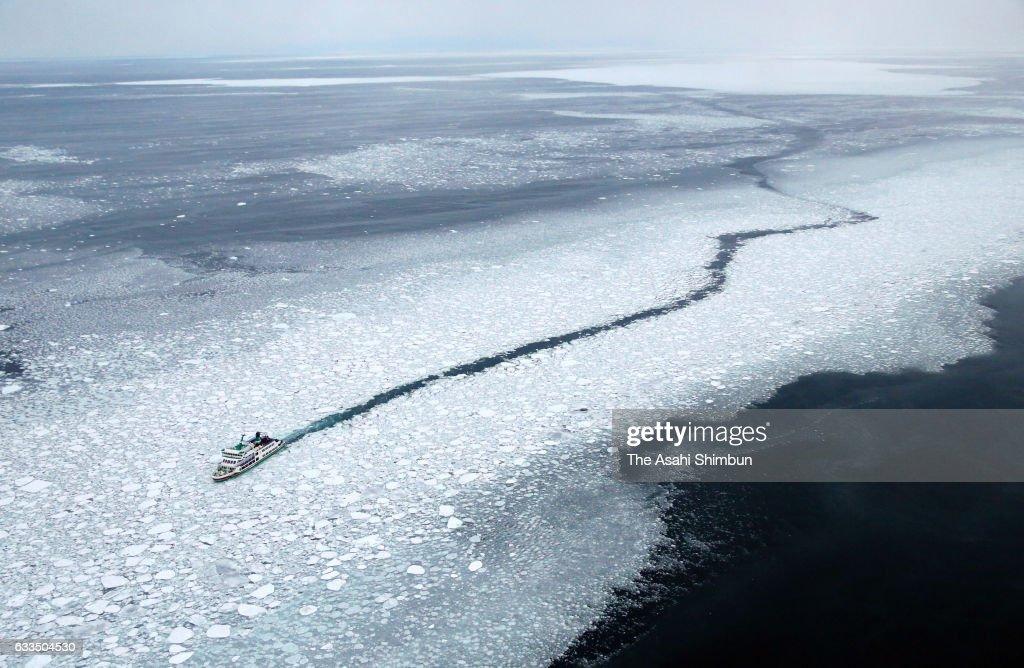 Drift Ice Arrives Hokkaido : News Photo