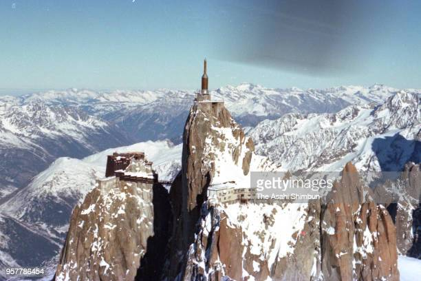 In this aerial image Aiguille du Midi is seen on December 7 1990 in France