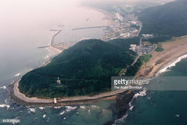 In this aerial image Cape Irago is seen on September 6 1998 in Atsumi Aichi Japan