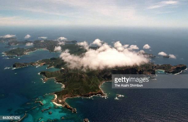 In this aerial image Chichijima Island is seen on June 4 1998 in Ogasawara Tokyo Japan
