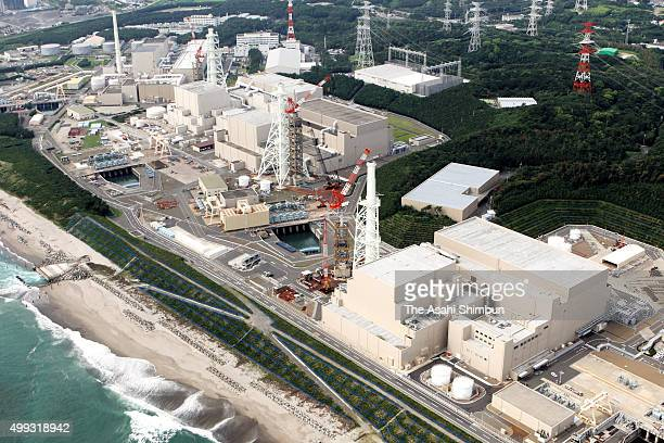 In this aerial image, Chubu Electric Power Co's Hamaoka Nuclear Power Plant is seen on September 3, 2007 in Omaezaki, Shizuoka, Japan.