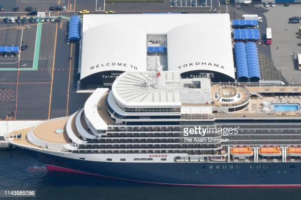 JPN: MS Queen Elizabeth Arrives Yokohama