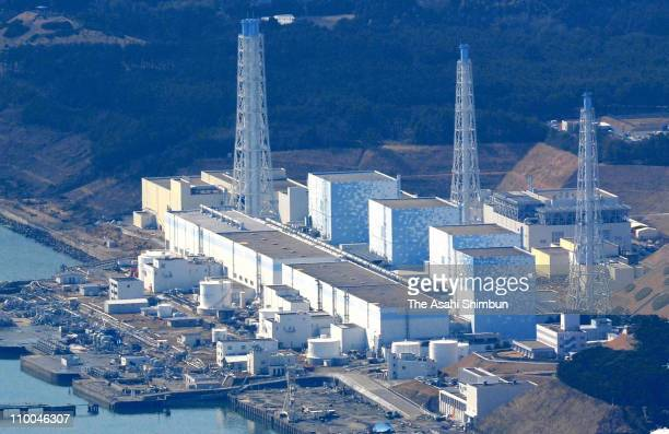 In this aerial image Fukushima Daiichi Nucler Power Plant is seen after an 90 magnitude strong earthquake struck on March 11 off the coast of...