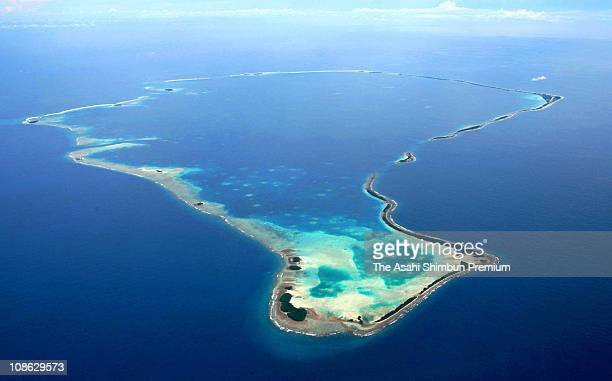 In this aerial image Funafuti Atoll is seen on March 16 2007 in Funafuti Tuvalu