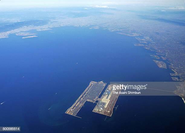 In this aerial image Kansai International Airport is seen on February 25 2006 in Izumisano Osaka Japan