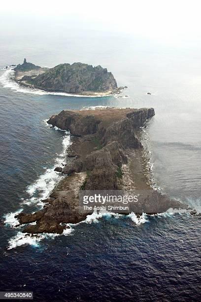 In this aerial image Kitakojima Island of Senkaku Islands is seen on November 30 2008 in Ishigaki Okinawa Japan