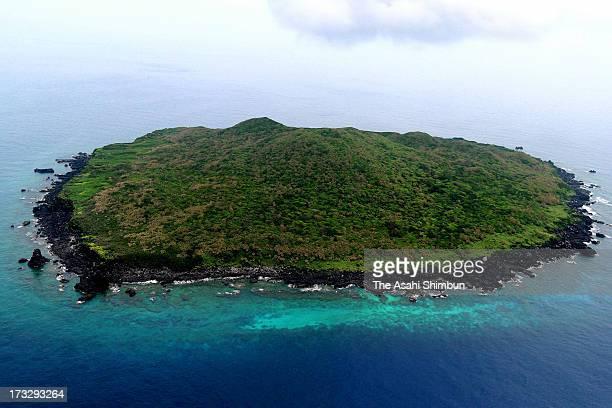 In this aerial image Kuba Island part of Senkaku Islands is seen on May 15 2013 in Ishigaki Okinawa Japan