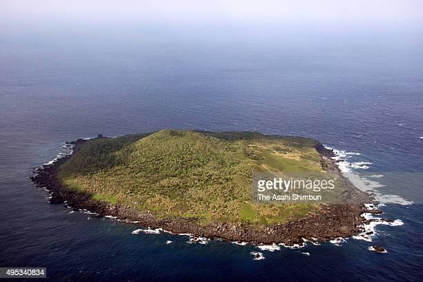 In this aerial image Kubajima Island aka Kobisho island of Senkaku Islands is seen on November 30 2008 in Ishigaki Okinawa Japan