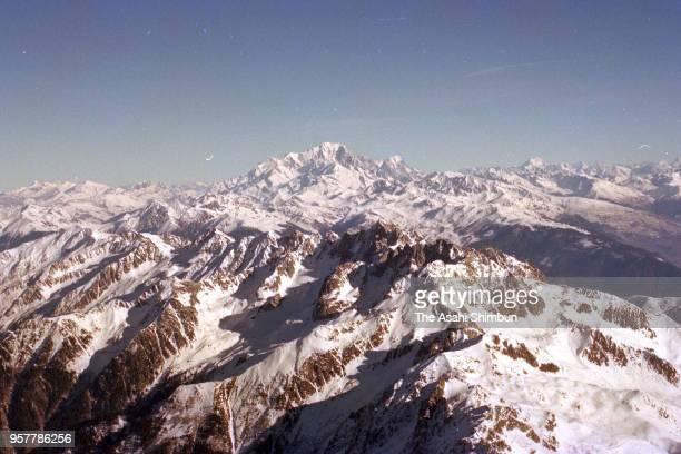 In this aerial image La Meije is seen on December 7 1990 in France