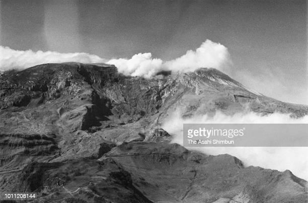 In this aerial image, Mt. Nevado del Ruiz is seen on November 18, 1985 in Armero, Colombia.