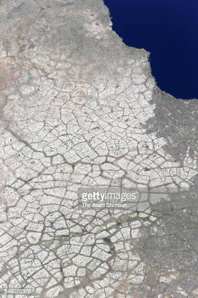In this aerial image polygons on permafrost are seen on June 15 2017 in Alaska United States In April 2017 US President Donald Trump signed an...