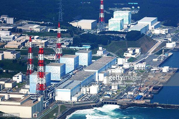 In this aerial image Tokyo Electric Power Co's Fukushima Daiichi Nuclear Power Plant is seen on December 9 2007 in Futaba Fukushima Japan
