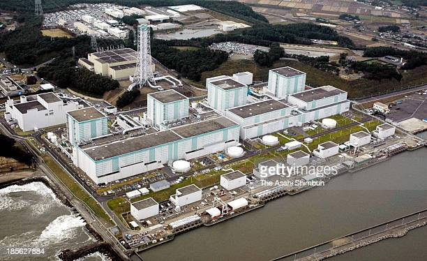 In this aerial image Tokyo Electric Power Co's Fukushima Daini Nuclear Power Plant is seen on October 29 2007 in Naraha Fukushima Japan