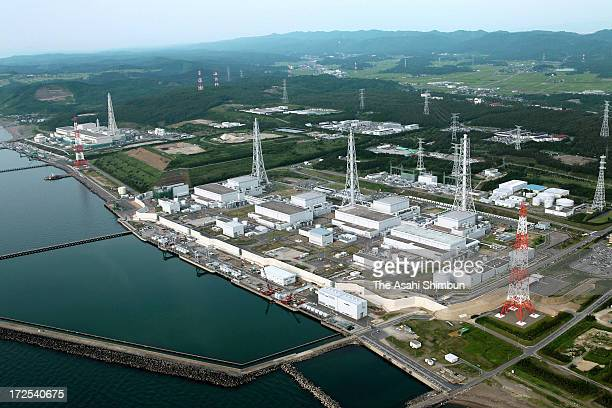 In this aerial image Tokyo Electric Power Co's Kashiwazaki Kariwa Nuclear Power Plant is seen on July 2 2013 in Kashiwazaki Niigata Japan TEPCO...