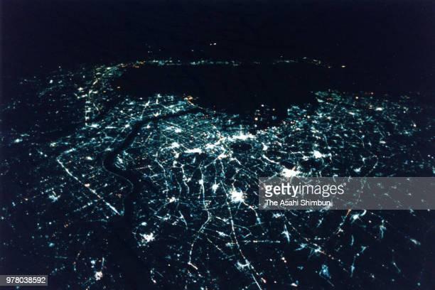 In this aerial image Tokyo is seen on December 30 1988 in Tokyo Japan