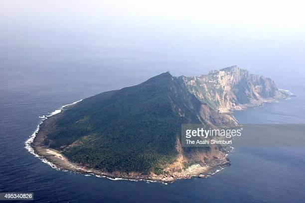 In this aerial image Uotsuri Island of Senkaku Islands is seen on November 30 2008 in Ishigaki Okinawa Japan