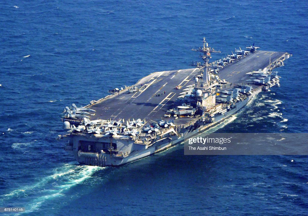 U.S. Carrier Carl Vinson Heads For Waters Off Korean Peninsula : News Photo