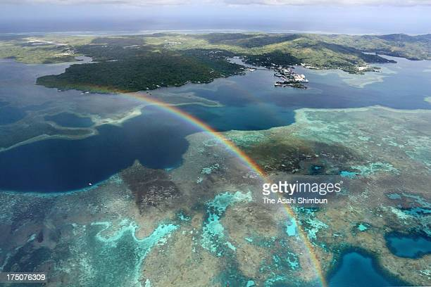 In this aerial image Yap Island is seen on April 25 2013 in Yap Micronesia
