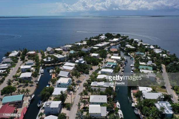 In this aerial photo from a drone a neighborhood is seen on July 8 2020 in Key Largo Florida 11 cases of the dengue fever have been confirmed in the...