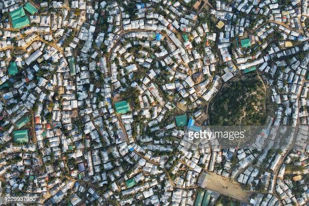 In this aerial picture taken on December 4 the Kutupalong camp for Rohingya refugees is pictured in Ukhia.