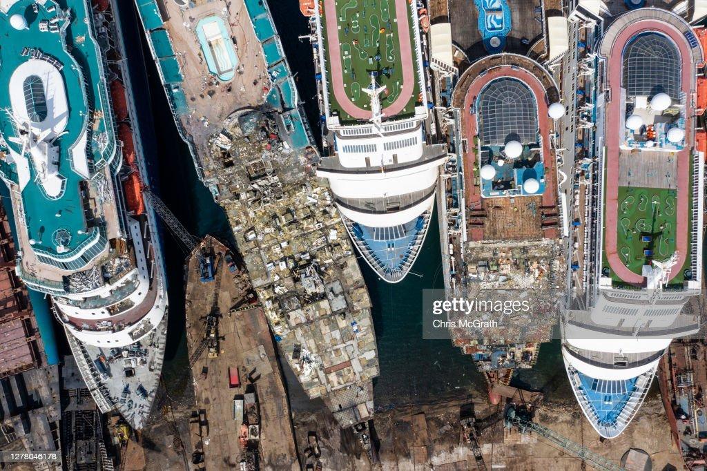 Cruise Ships Sold For Scrap Due To Coronavirus Pandemic : News Photo