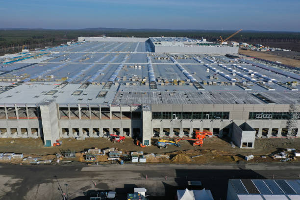 DEU: Construction Continues At New Tesla Factory