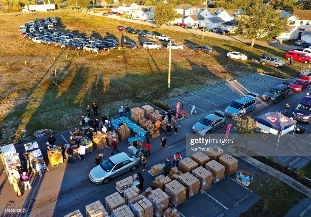 Food Assistance Provided To The Needy In Central Florida : News Photo