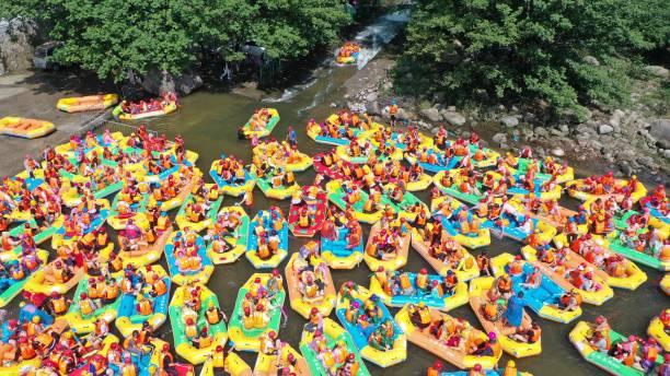 CHN: People Rafting In Pingdingshan