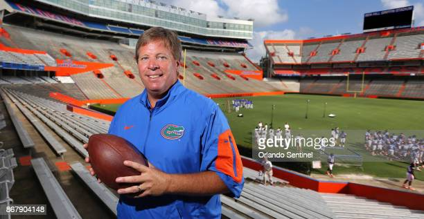 In this Aug 9 2015 file photo Jim McElwain then the new head football coach at the University of Florida poses during a photo shoot with the Orlando...