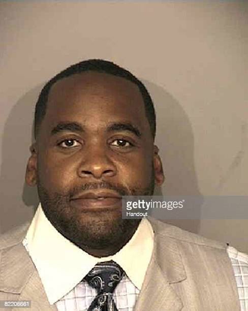 In this booking photo from the Wayne County Sheriff's Department Detroit Mayor Kwame Kilpatrick is seen August 7 2008 Kilpatrick was ordered to jail...