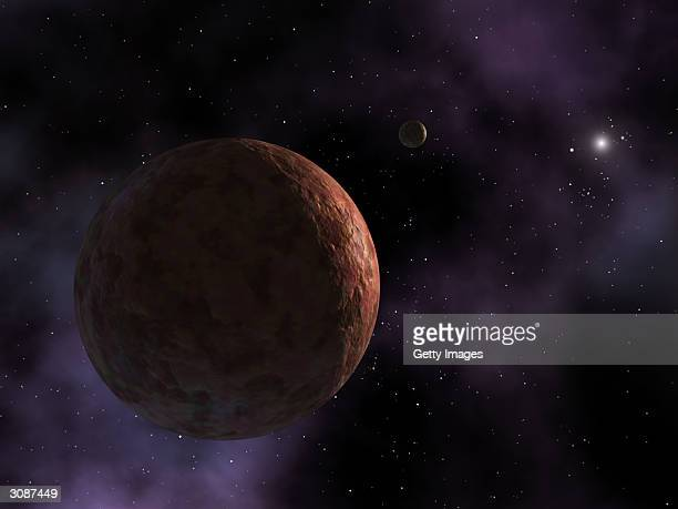 In this Caltech undated handout a rendering of the farthest object in our solar system Sedna is seen Sedna is a mysterious planetlike body three...