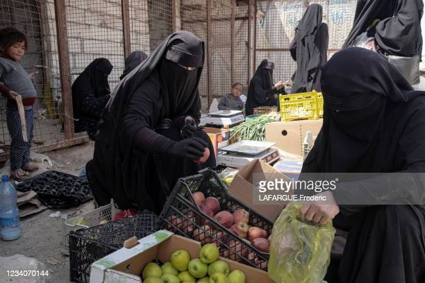 In this camp guarded by the Kurds, are welcomed 60,000 women and children of the fighters of the Islamic State who still live under the law of the...