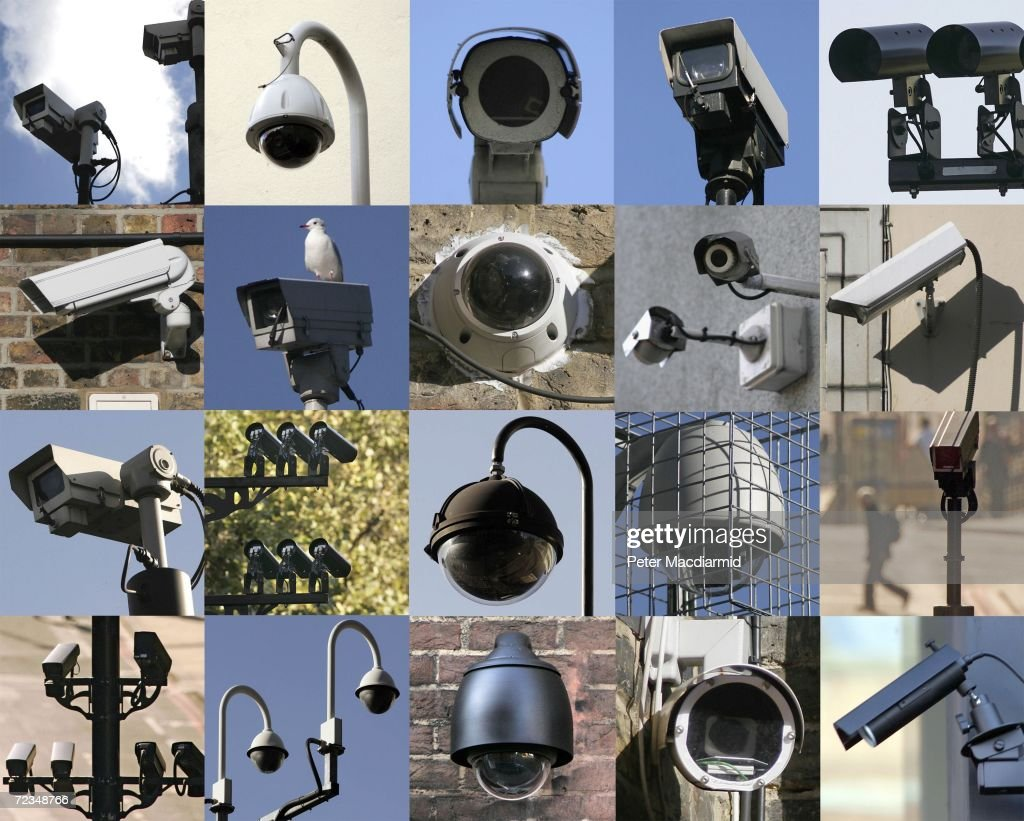 In this combination image closed circuit television cameras look down on central London on November 2, 2006 . A new report entitled The Surveillance Studies Network says that there are up to 4.2 million surveillance cameras in the United Kingdom.