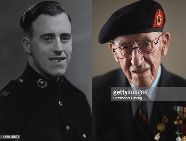 In this composite image a comparison has been made between a handout photograph of WWII veteran Harold Robinson as a young Royal Marine and one taken...