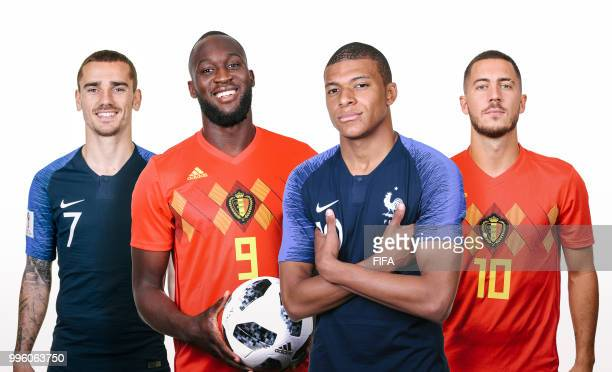 COMPOSITE OF IMAGES Image numbers 972039682974381110991520114 In this composite image a comparison has been made between Belgian players Romelu...