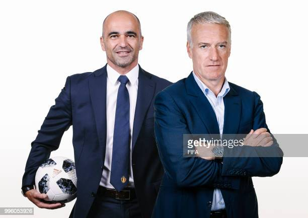 COMPOSITE OF IMAGES Image numbers 974380062971539240 In this composite image a comparison has been made between Belgium coach Roberto Martinez and...