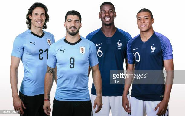 COMPOSITE OF IMAGES Image numbers 973044436971572422991520230 In this composite image a comparison has been made between Edinson Cavani Luis Suarez...