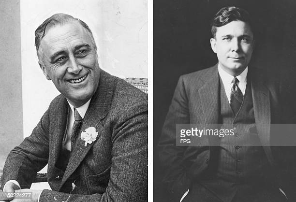 In this composite image a comparison has been made between former US Presidential Candidates Franklin Delano Roosevelt and Wendell Willkie In 1940...