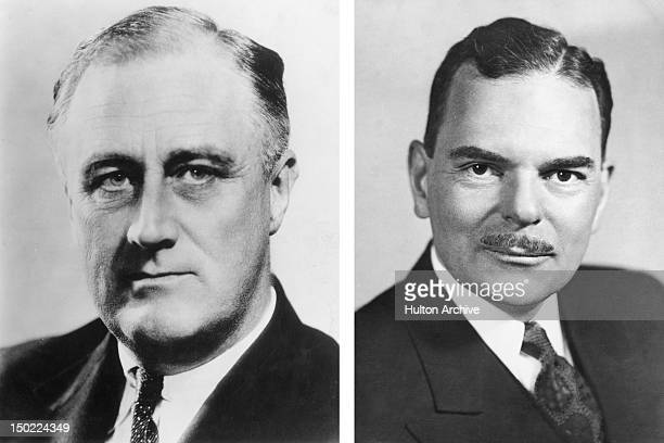 In this composite image a comparison has been made between former US Presidential Candidates Franklin Delano Roosevelt and Thomas E Dewey In 1944...