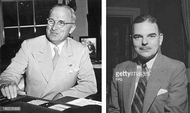 In this composite image a comparison has been made between former US Presidential Candidates Harry S Truman and Thomas E Dewey In 1948 Harry S Truman...