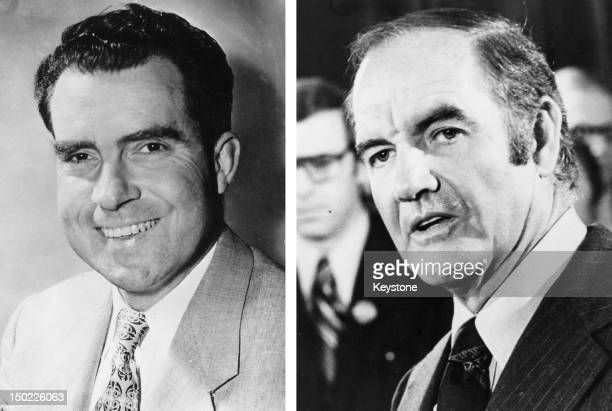 In this composite image a comparison has been made between former US Presidential Candidates Richard Nixon and George McGovern In 1972 Richard Nixon...